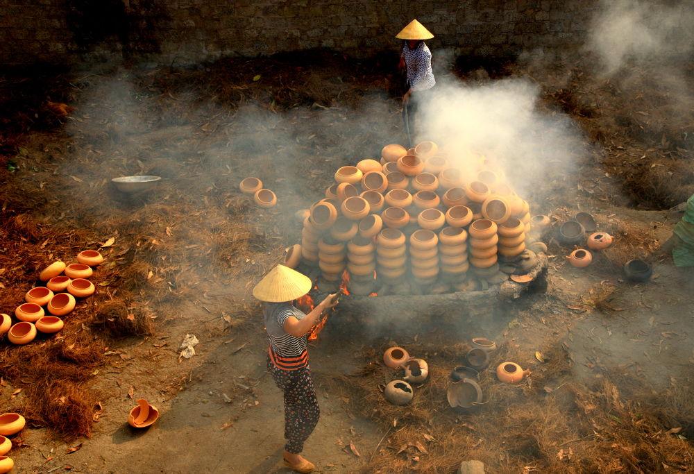 ceramic burning stove by luonghai9