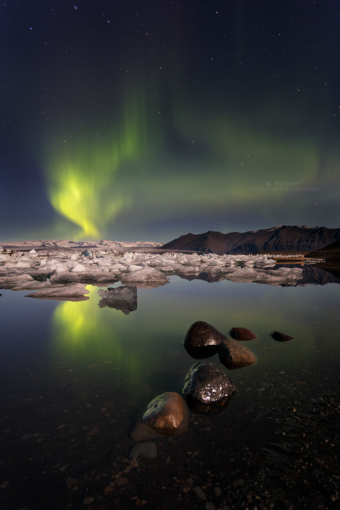 Jökulsarlon Borealis by scpictures