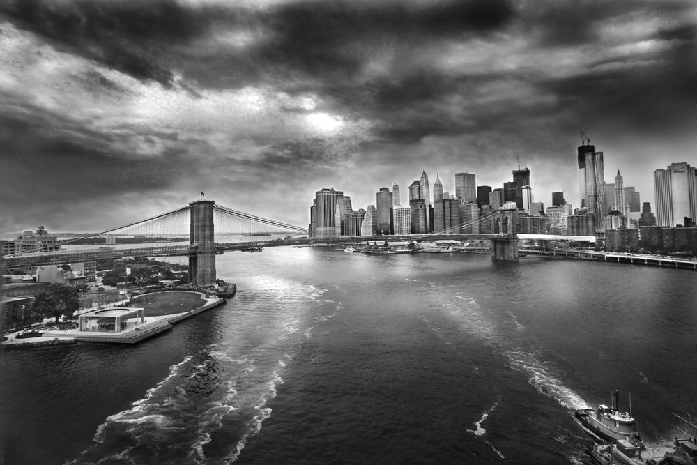 brooklyn bridge by  eduardo luna