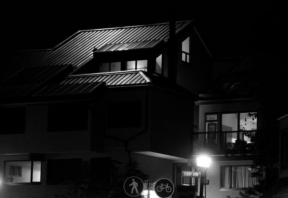 B/W Moonlight Night by John Nijjar