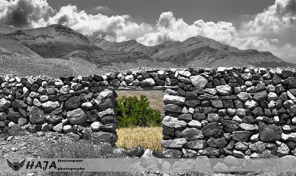 Photo in Nature #esfarayen #stone #wall #nature #haja #khorasan #black & white