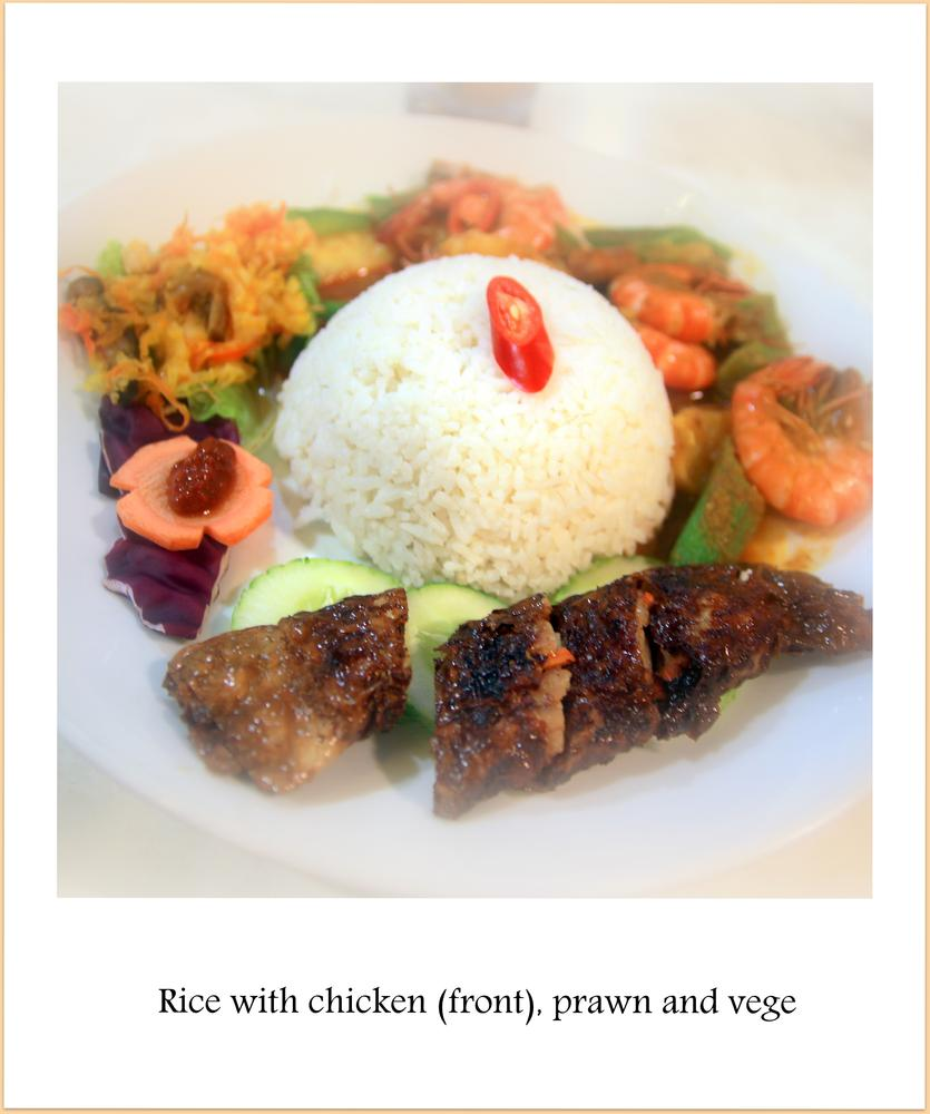 Rice with  meat and vege by fragranceumlee