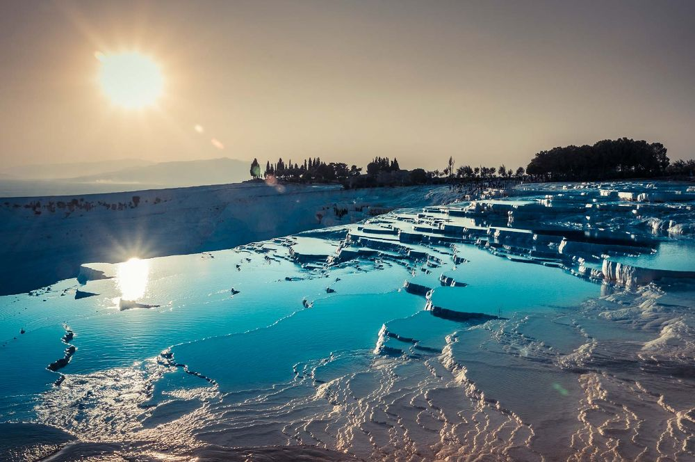double sunset in pamukkale by giannimattonai