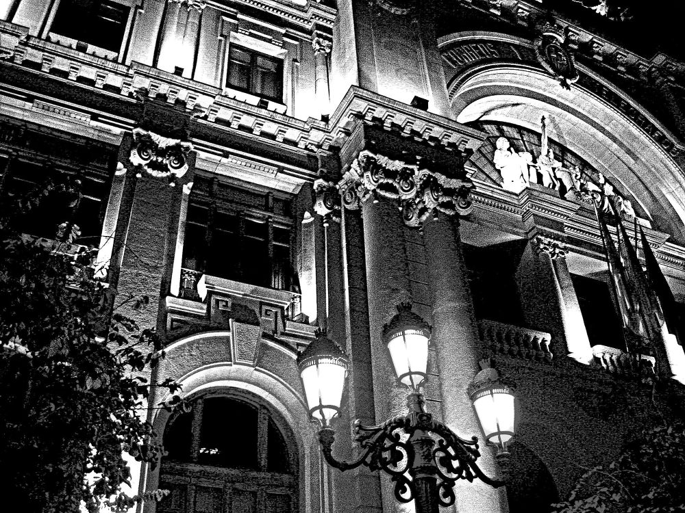 correos de noche (bn) by javiercolominalopez
