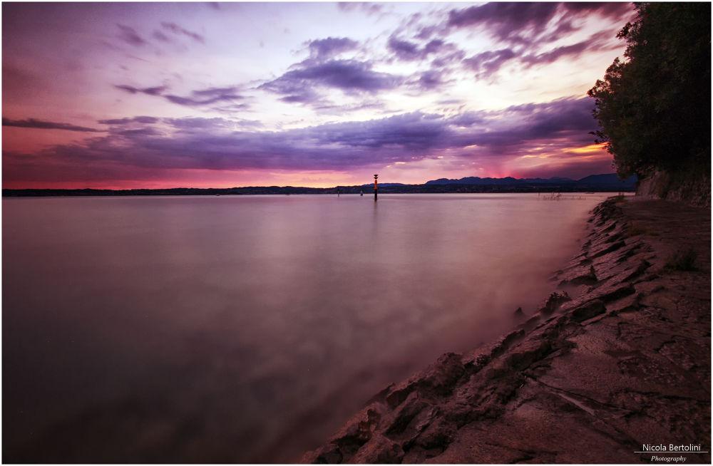 Sunset Garda Lake by nicola81