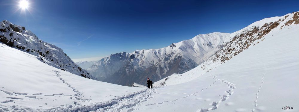 Panorama- palangchal - tochal mountain by Arash khosravi