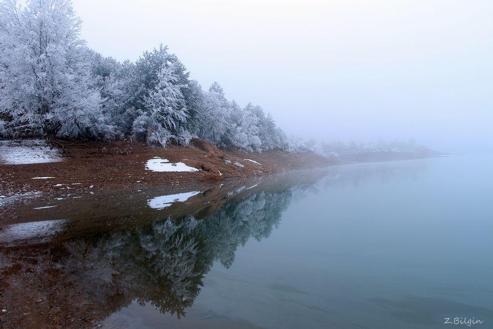 Photo in Nature #fog #lake #ggüvenç göletiti #ankara #turkey