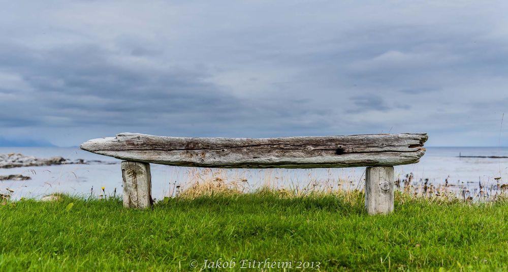 A bench at the beach by Jakob Eitrheim