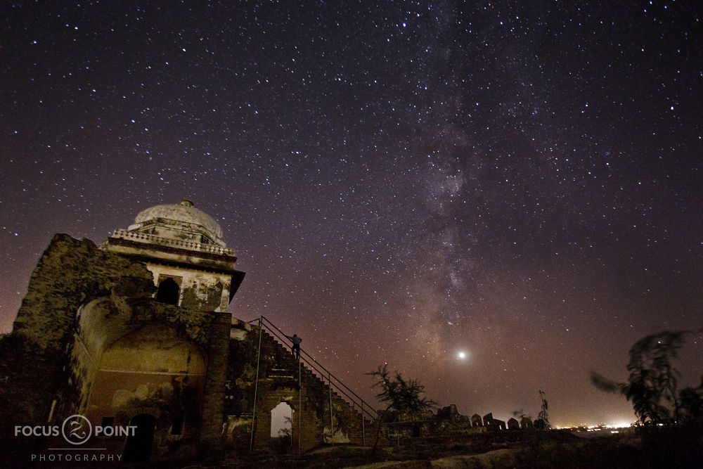milky way Captured in Pakistan Fort Rohtas near jehlum in Punjab by Shaun