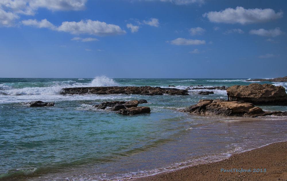 Sky Sea Sand Rocks by Paul Telford