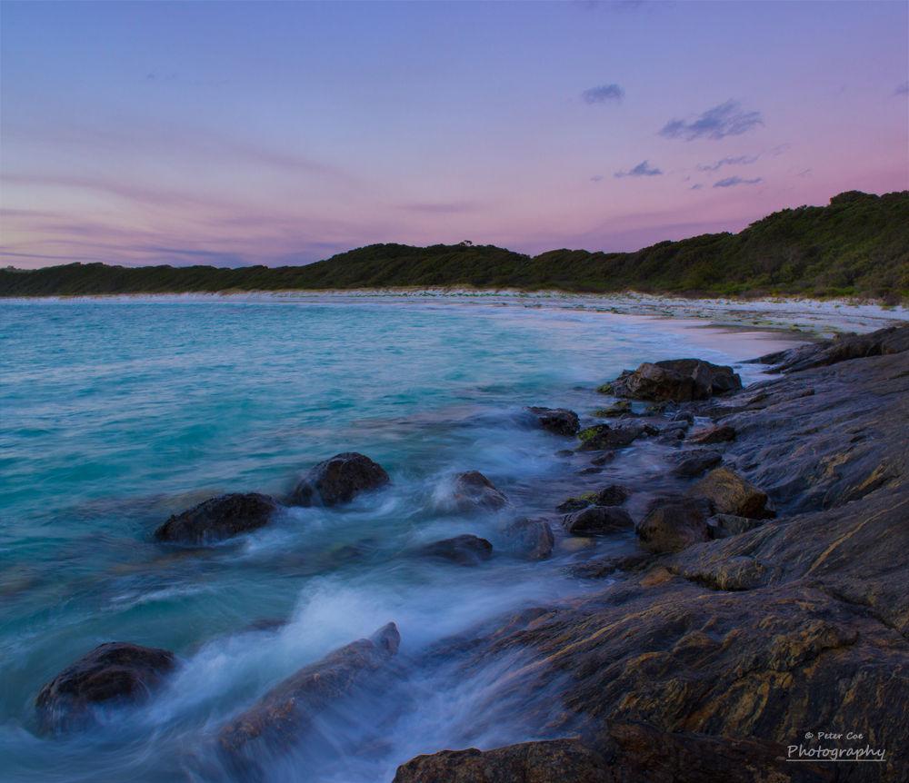 Photo in Sea and Sand #beach #sunset #dusk #long #rocks #waves #sea #exposure #photography #australia #tourism #western australia