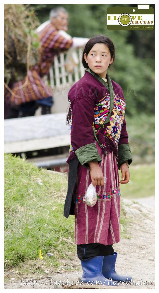 Highland girl of Bhutan by Ugyen Tshering