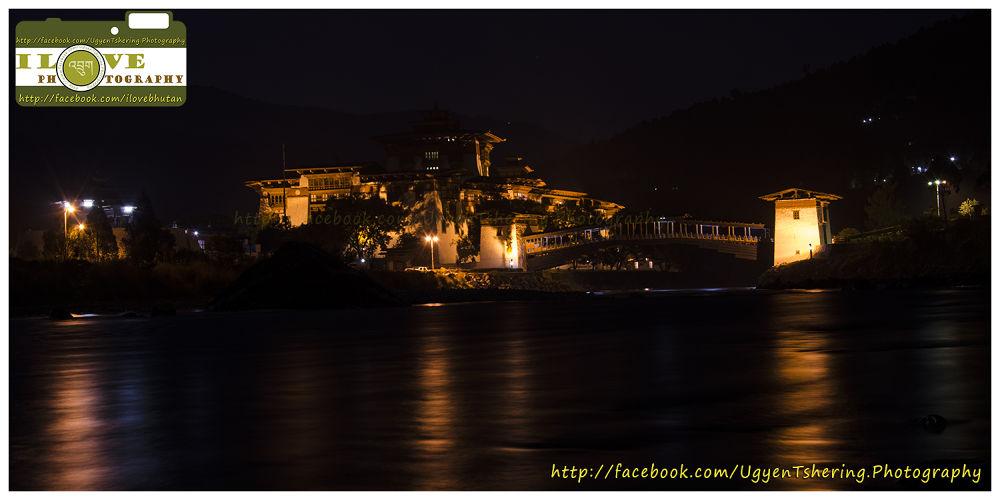 Punakha Night View by Ugyen Tshering