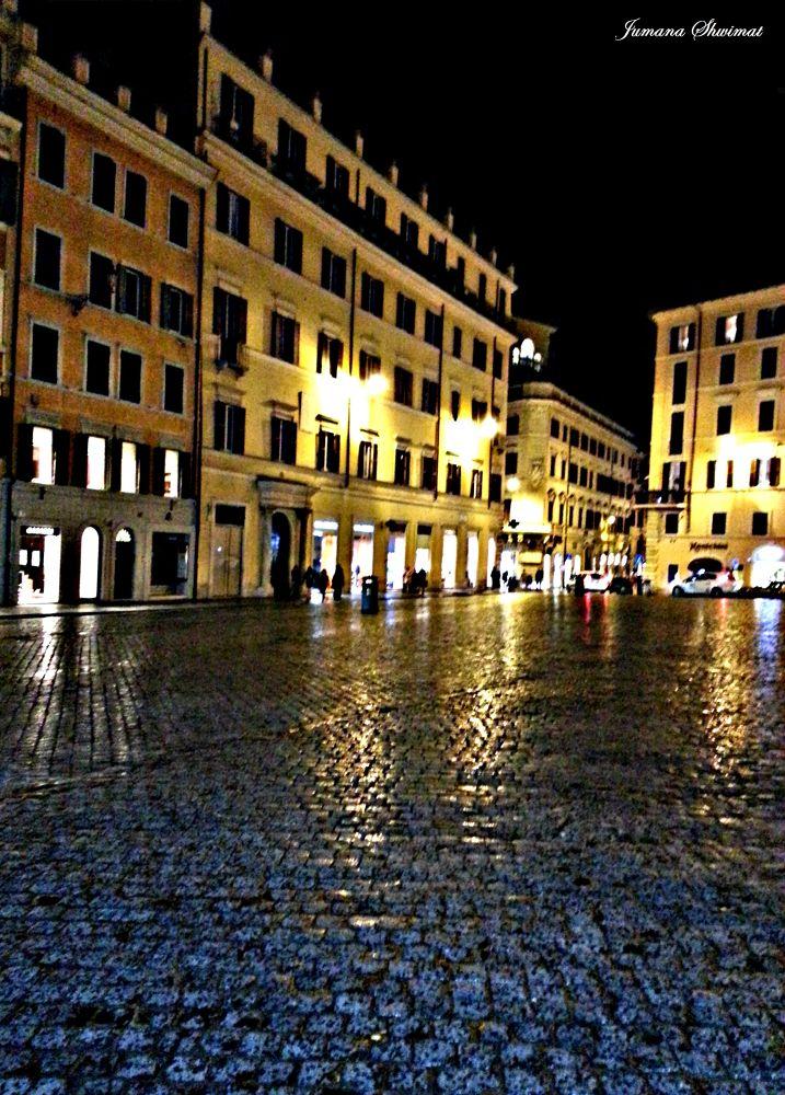 Rainy night in Rome  by JumanaShwimat