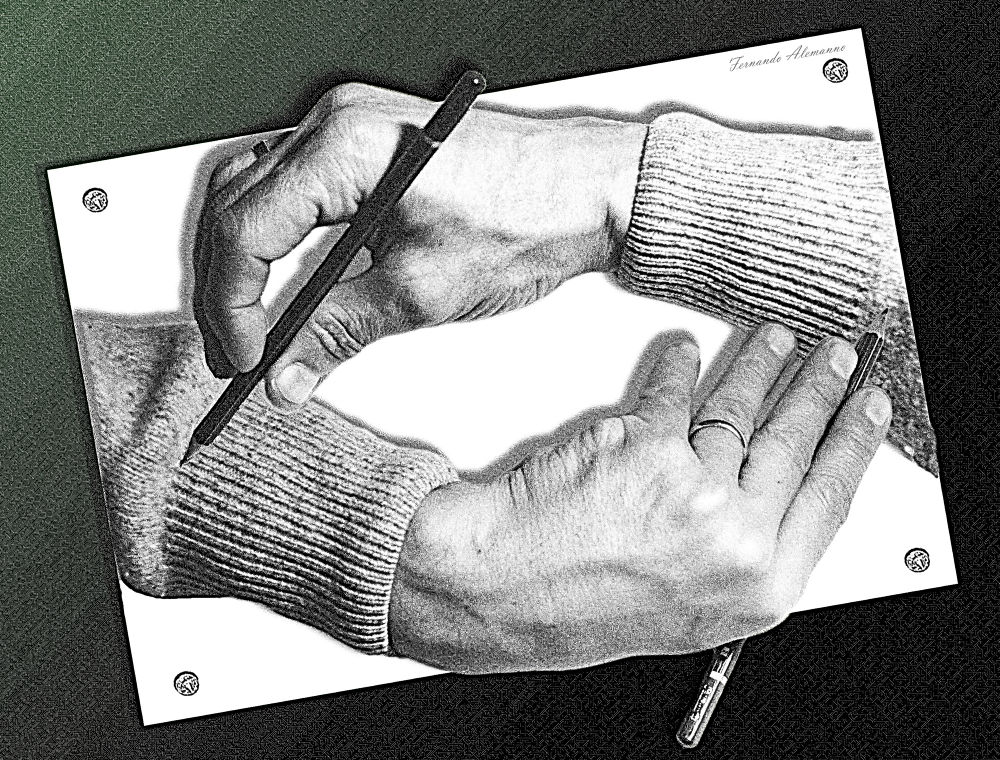 tribute to Maurits Cornelis Escher (final edit) by fernanduk