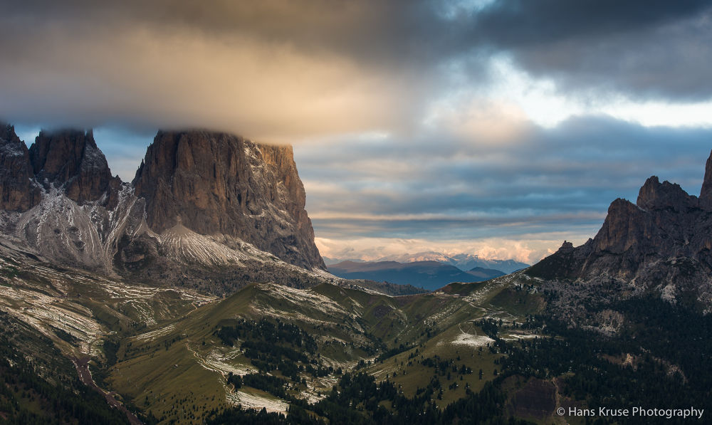Morning at Passo Sella by Hans Kruse