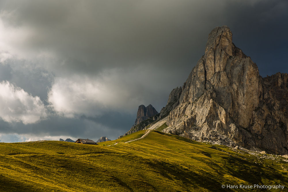 Afternoon light at Passo Giau by Hans Kruse