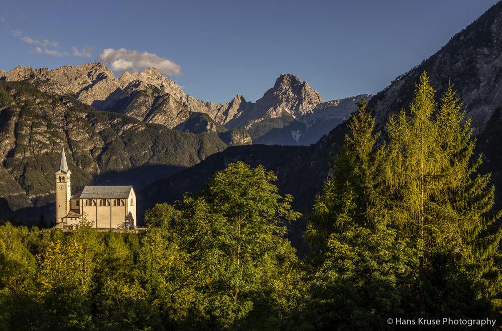 Church in Valle di Cadore by Hans Kruse