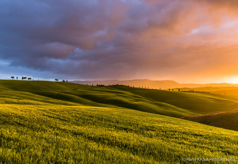 Sunset at Montalcino by Hans Kruse