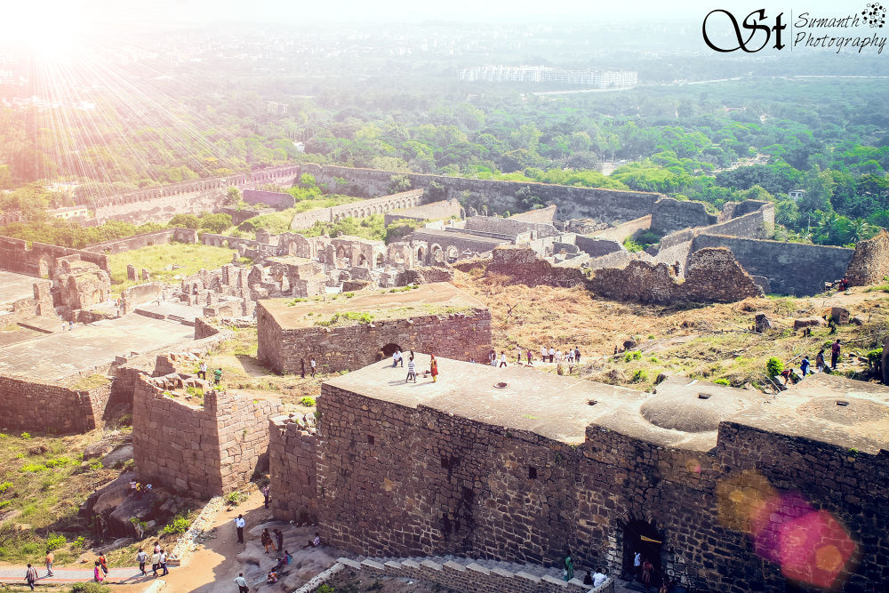 Photo in Architecture #fort #golconda #landscapes #flare #sun #india #hyderabad