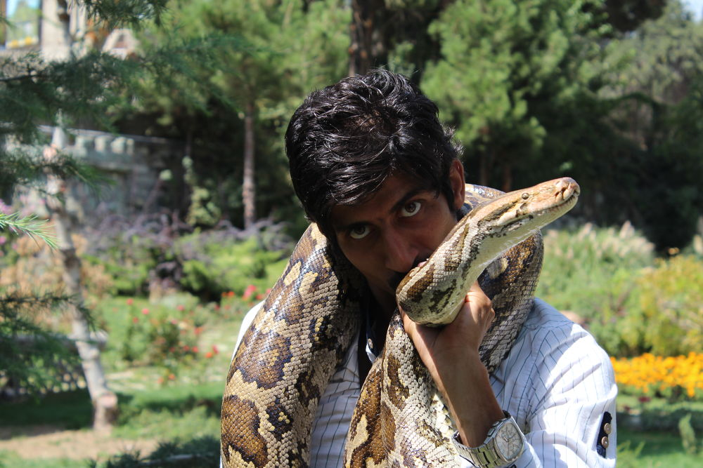 Self Portrait with Python Susan by sohrabhosseinpoor