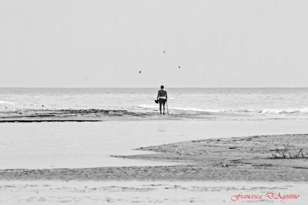 Solitary man by Francesca D'Agostino