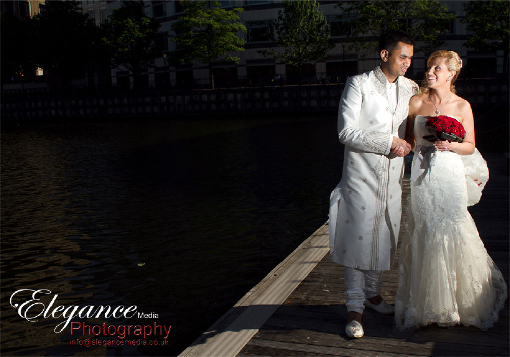 Alessandras couple portait on her wedding day.  by Amin Islam
