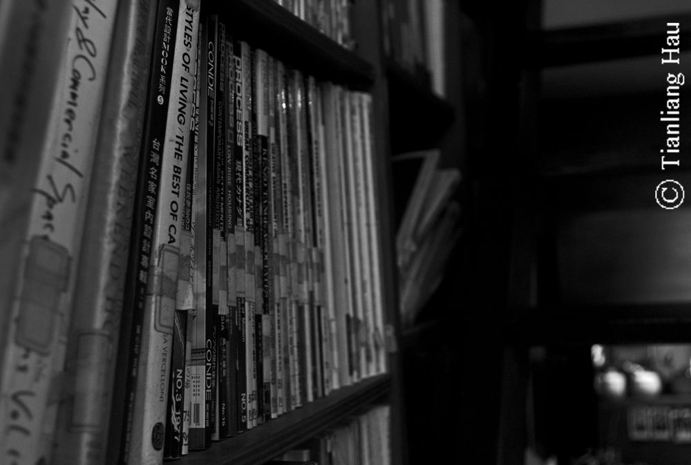 Book Shelves by the Stairway  by Tianliang Hau