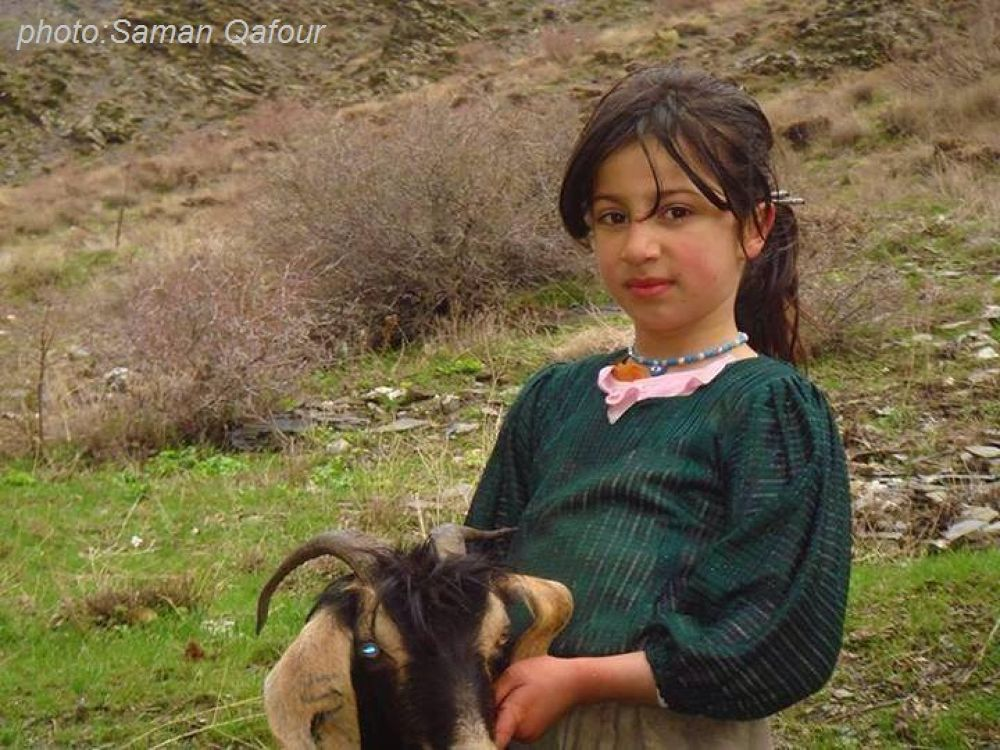 A beautiful girl of Kurdistan by Bahman Esmaeili