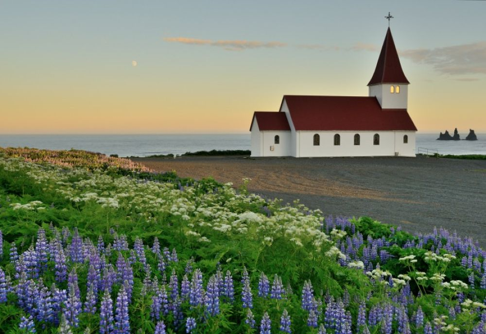Icelandic Church by Mark Andreas Jones