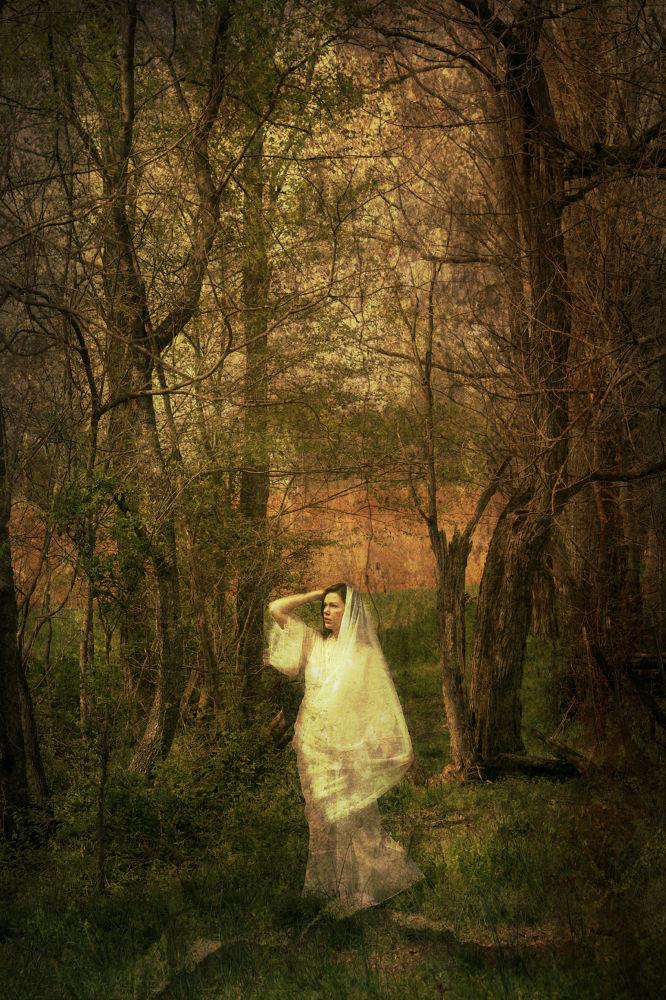 lady in woods by GenoWilson