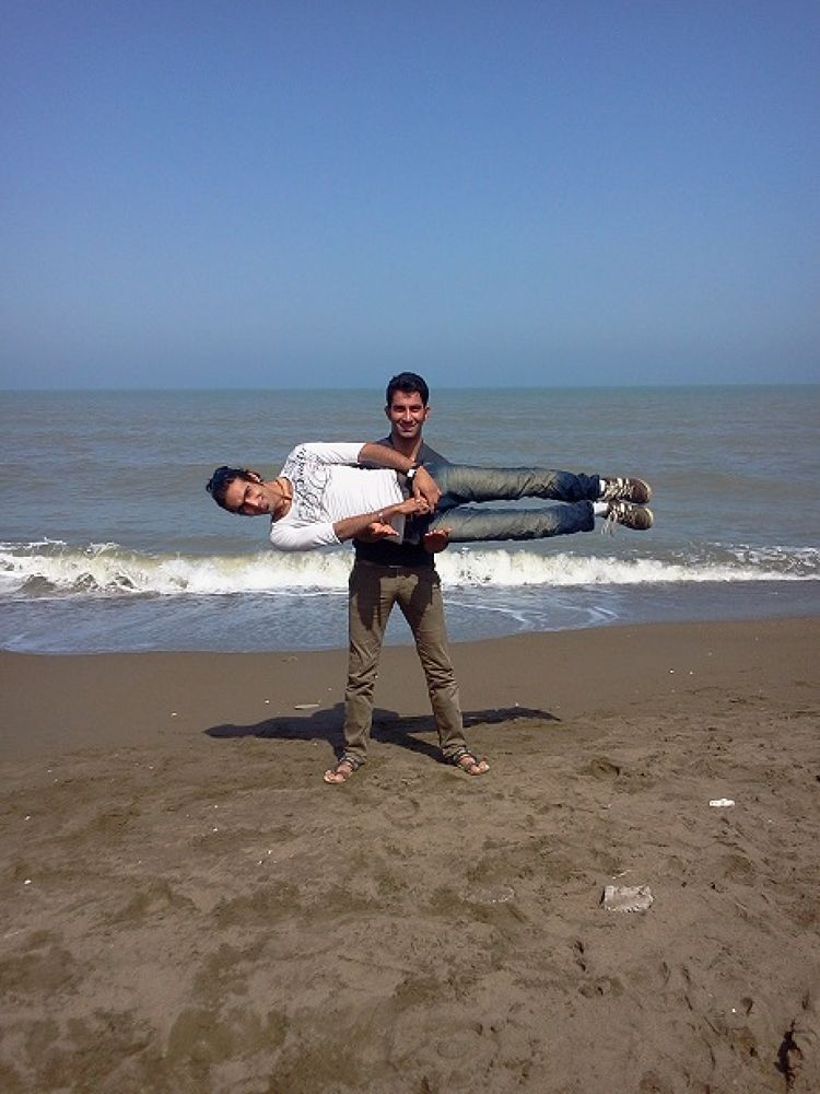 Caspian sea-Me And brother by mohammad1986
