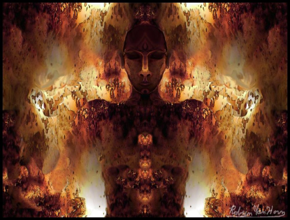 011 burning man (photoshop of the skull cavity of a deer ) by robynvanhorn3
