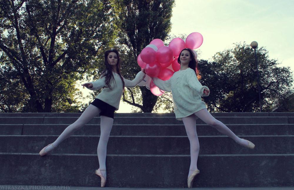 Photo in Fine Art #girl #girls #dance #dancers #ballet #balloons #bellerina #beautiful