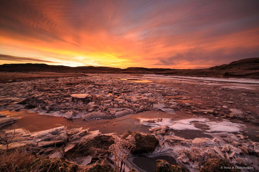 Fire & Ice, Iceland by Chittaranjan Desai