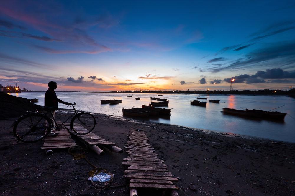 Transfixed at Twilight by Chittaranjan Desai