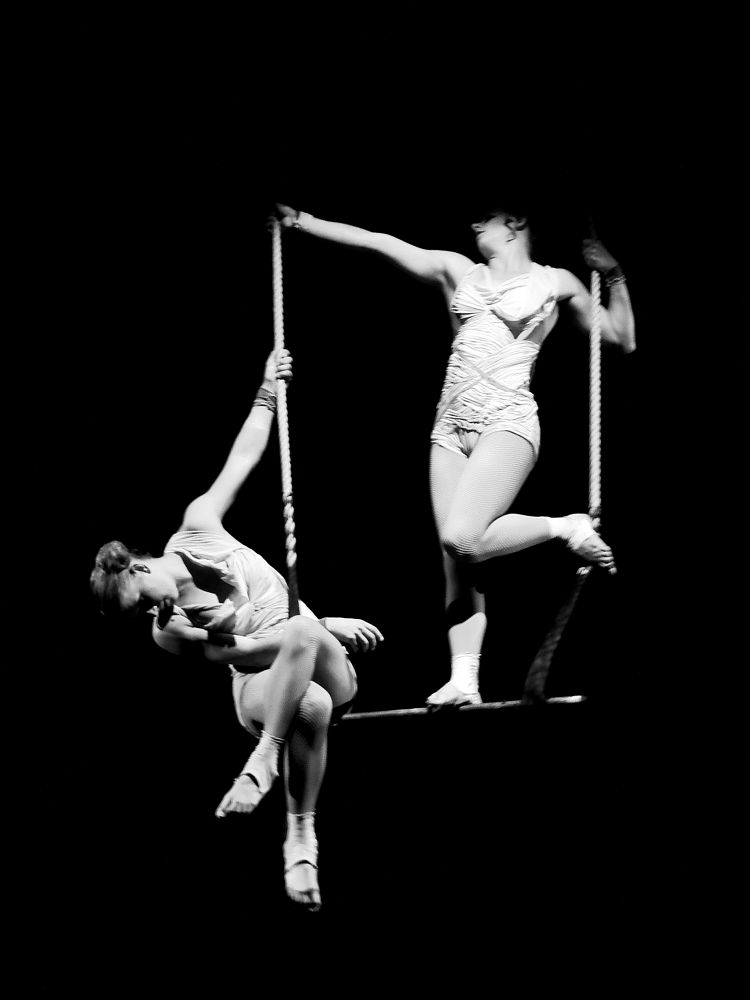 Photo in Black and White #art circus acrobat