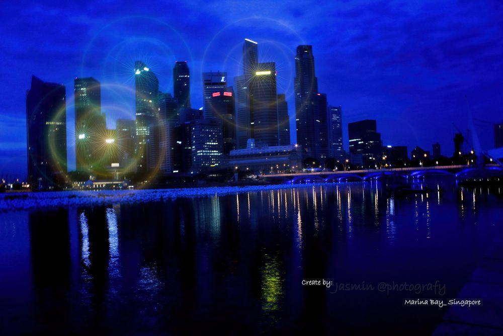 marina bay singapore blue season by MarRudDanie