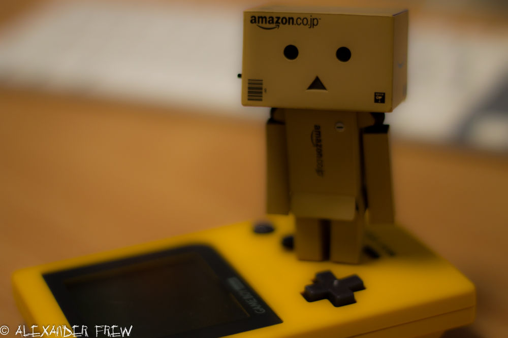 Danbo on a Gameboy by Alexander Frew