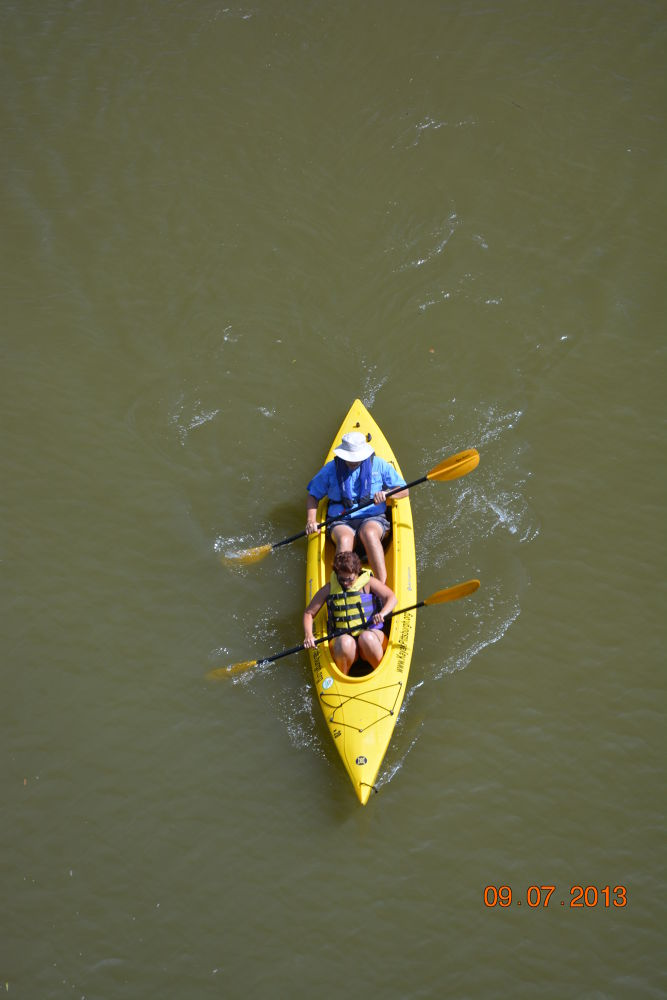 Paddling the Allegheny River - Pittsburgh by Shel Yetman