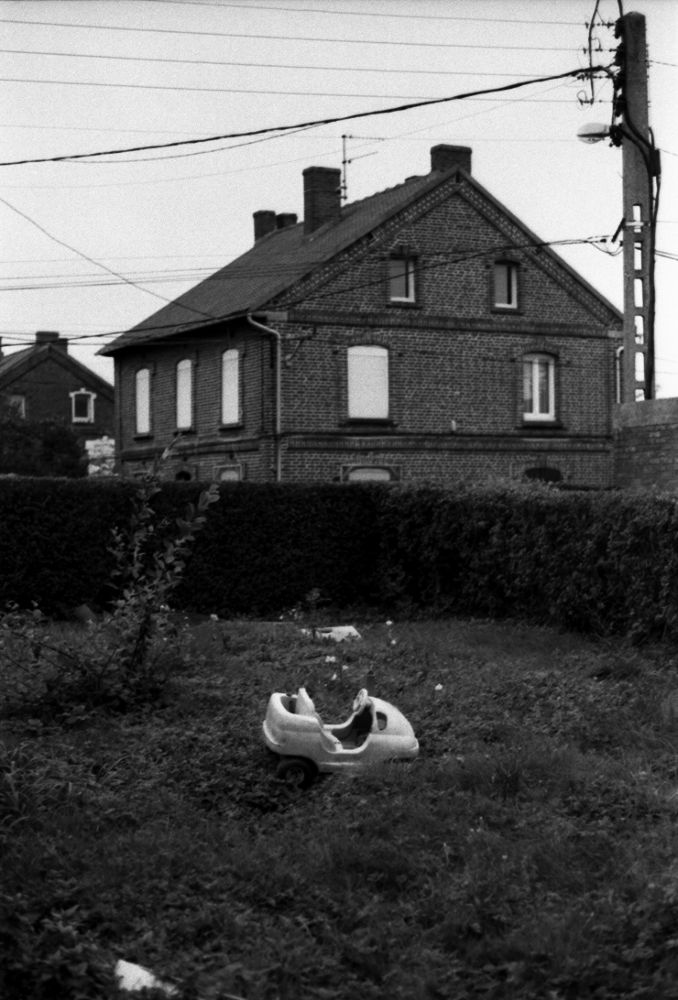 Photo in Black and White #toys #chidren #mines #miners #miner's house #leica #leica r9