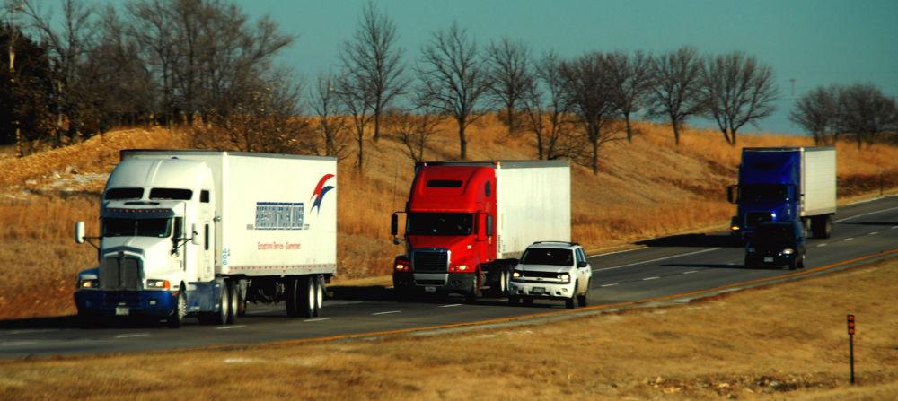 Semis On The Highway 3 by jesumjr