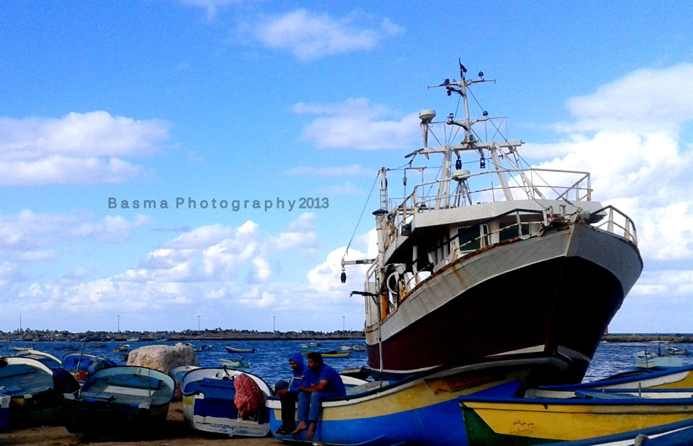 Gaza port by Basma Elsaqqa