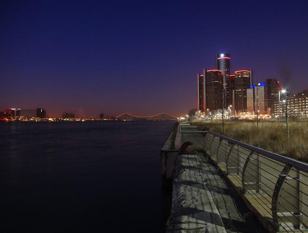 Detroit At Night by chuckhildebrandt7