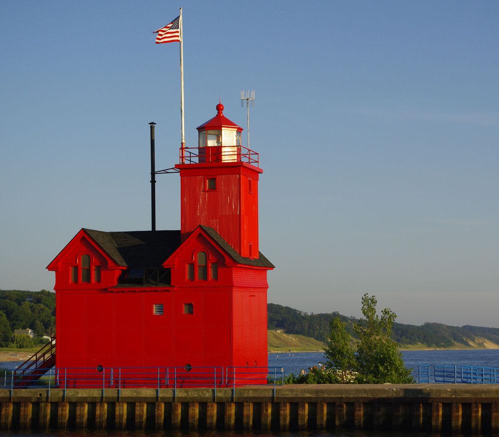 Big Red Lighthouse by chuckhildebrandt7
