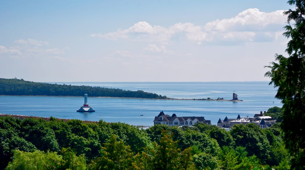 A View From Mackinac Island by chuckhildebrandt7