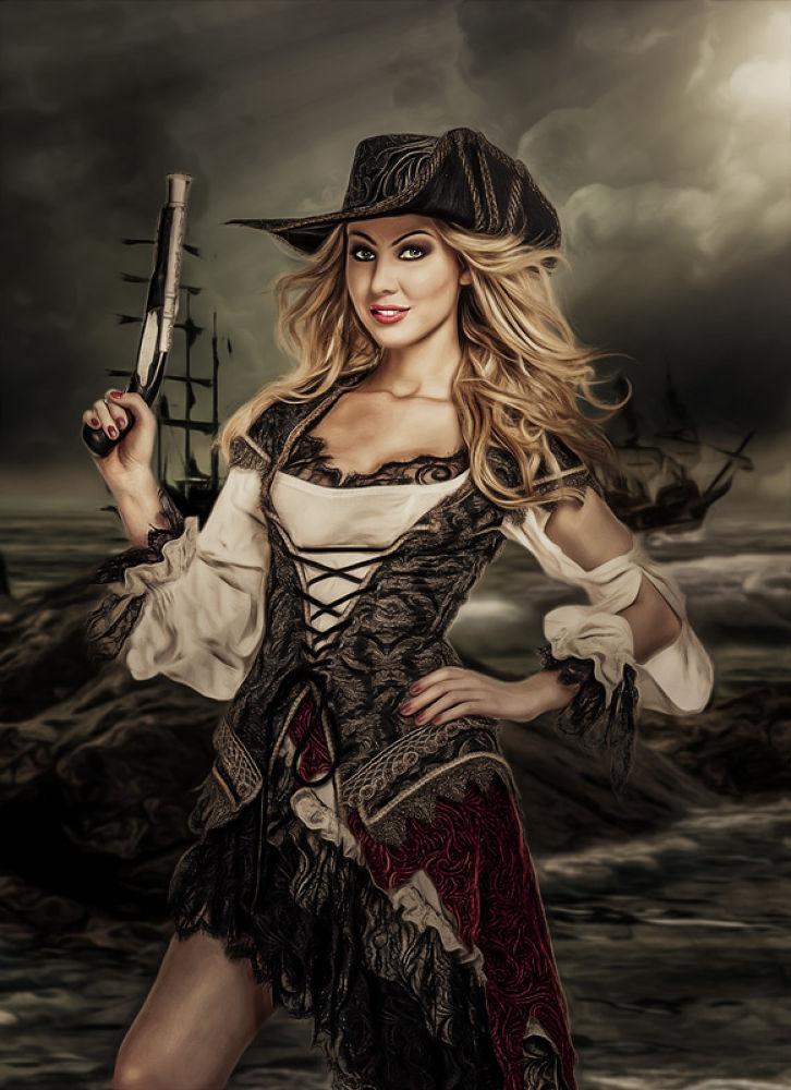 Photo in People #pirate #girl #awesome #dress #clothing #photoshop #adobe #manipulation #digital art #amazing #blonde #nik software
