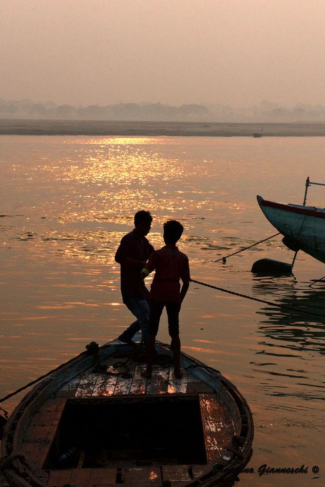 tramonto sul Gange 1 by ermannogianneschi