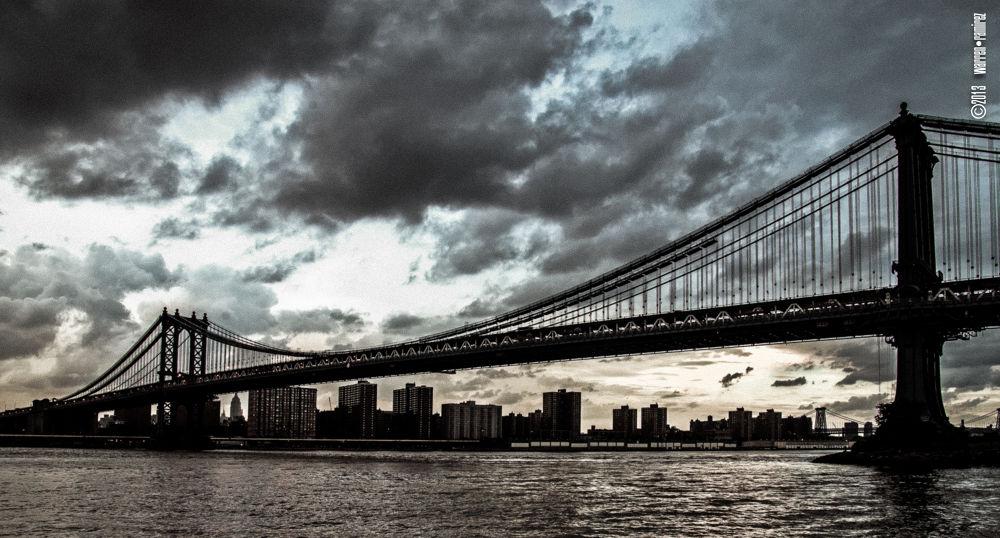 Manhattan Bridge from Dumbo by Warren Ramirez