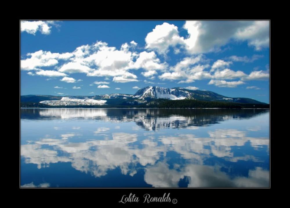 Photo in Landscape #nature #clouds #reflection #mountains #snow #forrest #beauty